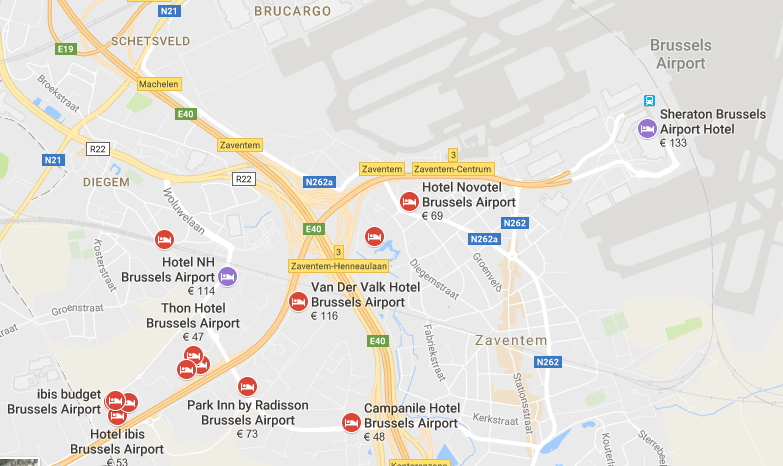 hotels vlak bij zaventem airport