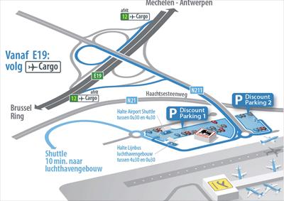 parkeren discount 1 en 2 zaventem airport brussels